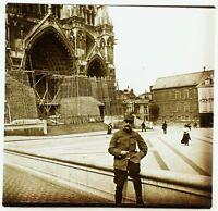 FRANCE Amiens Cathédrale Notre-Dame, Photo Stereo Plaque Verre VR2L5n10