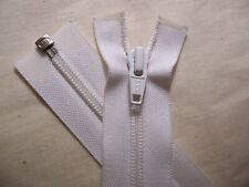 "YKK Jacket Zipper, new - 23"" white - plastic coil teeth"