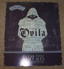 SIERRA NEVADA Ovila Abbey Ales METAL TACKER SIGN craft beer brewery brewing