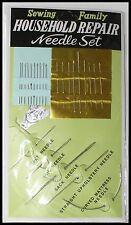 HOUSEHOLD HAND SEWING NEEDLES – ASSORTED – 27PCS NEEDLE THREADER UPHOLSTERY CIRC