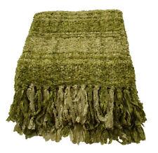 Magnifique pistache vert plaid sparkle tissage grand plaid 150 cm x 200 cm