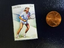 New listing Steffi Graf German Tennis Player Gold Medal Olympics Liberia Perforated Stamp