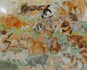 "Springbok Jigsaw Puzzle Cats Cats Cats! (& Kittens) 1000 Pieces 24x30"" PZL6117"