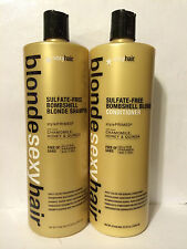 SEXY HAIR BLONDE BOMBSHELL SULFATE FREE SHAMPOO CONDITIONER LITER DUO SET-33.8oz