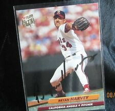 Bryan Harvey California Angels 1992 Fleer Ultra # 27 Signed Baseball Card