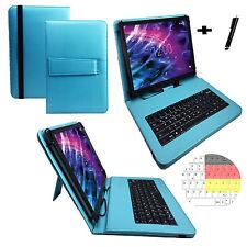 Deutsch Tastatur Hülle - Samsung Galaxy Tab A - 10.1 Zoll Tablet Tasche türkis