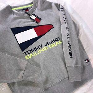 Tommy Hilfiger Sailing Gear Capsule Sweatshirt Grey Men's Size Large NWT