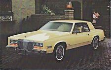 1980 Cadillac ELDORADO Coupe Yellow Original Dealer Promotional Postcard UNUSED