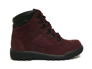 Timberland Little Kids' Youth 6 INCH FIELD Boots Burgundy A1ATO b