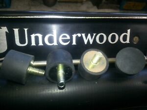 Underwood Model 2 3 4 5 Typewriter Rubber Feet (4) New Replacement, Made in USA