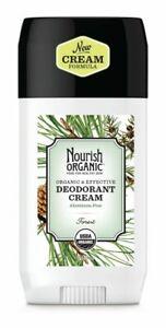 Nourish Organic Aluminum Free Cream Deodorant, Forest - 2oz