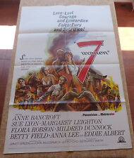 7 Women Movie Poster, Original, Folded, One Sheet, year 1966, Made in U.S.A.