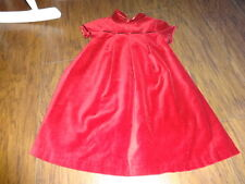 BOUTIQUE JACADI 6A/Y 6 GIRLS RED VELOUR DRESS GORGEOUS