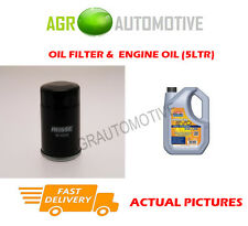 PETROL OIL FILTER + LL 5W30 ENGINE OIL FOR TOYOTA RAV 4 2.0 150BHP 2000-05