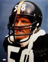 Jack Lambert HOF Autographed Steelers 16x20 Mean Close Up Photo- JSA W Auth