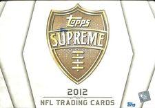 2012 Topps Supreme Football Sealed Hobby Box