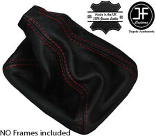 RED STITCH REAL LEATHER MANUAL GEAR GAITER FITS SAAB 9-3 93 1998-2002