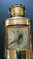Ship's Lantern Clock solid brass & copper German made New/Old stock