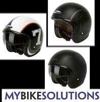 Nitro X581 Cruiser Scooter Motorcycle Bike Open Face Helmet Drop Down Sun Visor