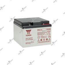 Batterie RECHARGEABLE  YUASA NP24-12 12V 24AH 166X175X125mm