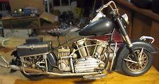 HARLEY DAVIDSON  INDIAN FATBOY MOTORCYCLE  HANDCRAFTED MODEL FIGURINE  METAL ART