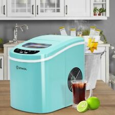 Costway Portable Compact Electric Ice Maker Mini Cube 26lbs/Day Abs Mint Green