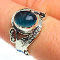 Chryscolla In Quartz 925 Sterling Silver Ring Size 8.25 Ana Co Jewelry R45769F