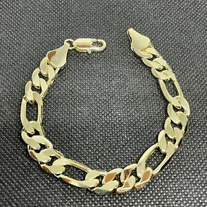 14K Yellow Gold Cuban Link Men's Bracelet