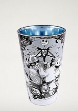 NIGHTMARE BEFORE CHRISTMAS JACK SALLY OOGIE PINT GLASS BEER 16oz Cast Metallic