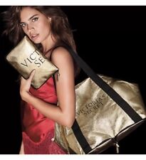 Victoria's Secret Packable IT Weekender Tote Bag - Gold - FREE SHIP - Brand New
