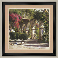"""35W""""x35H"""" SUNLIT ARCHWAY by CYRUS AFSARY - DOUBLE MATTE, GLASS and FRAME"""