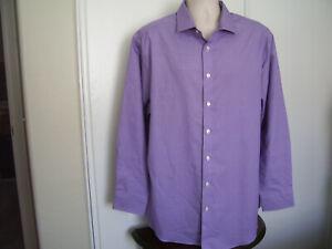 MURANO Nwot Men's 2XB 35/36 Purple Button Down Long Sleeve Dress Shirt
