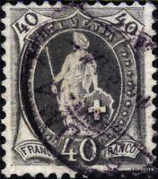Schweiz 61 gestempelt 1882 stehende Helvetia