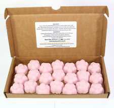 Bath Bombs Strawberry scented 21 x 10g Flowers Bee Beautiful reduced plastic