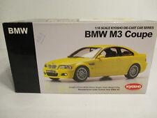 ( GOK ) 1:18 Kyosho BMW M3 Coupe Yellow  NEU OVP