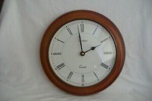 Vintage Spectrum Circular.English Wooden Quartz Wall clock.