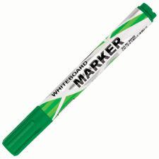 Pack Of 4 Green Whiteboard Flipchart Marker Pens Drywipe