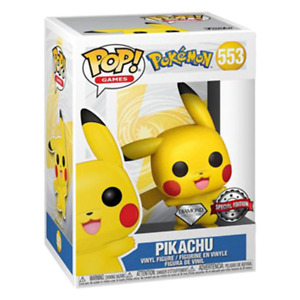 Pokemon Pikachu Waving Diamond Glitter US Exclusive Pop! Vinyl RS