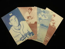Lot of 4 1953 Montreal Royals Canadian Exhibit Cards – EX/MT