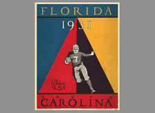 FLORIDA GATORS FOOTBALL 1931 vs. South Carolina Vintage Program Cover POSTER