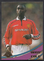 Merlin Football Card - Premier Gold 2000 - No 59 - Man Utd - Andy Cole