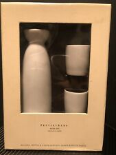 Pottery Barn Sake Bottle 2 Cup Set Excellent Condition Priority Mail Shipping