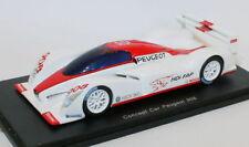Véhicules miniatures rouges en résine pour Peugeot