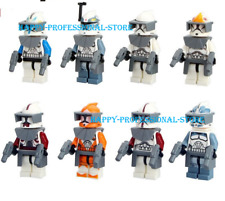 8 Pcs Space Awakens Clone Trooper Commander Fox Rex Minifigures Lego MOC