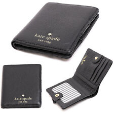 New Kate Spade Cobble Hill Small Stacy Leather Wallet Black