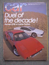 Car 06/1981 Lotus Esprit Turbo, Ferrari 308GTB, Vector W2, Granada, Mercedes 200