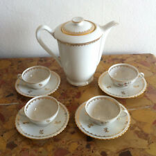 Service à café en porcelaine de luxe Royal ADP avec dorures à l'or fin