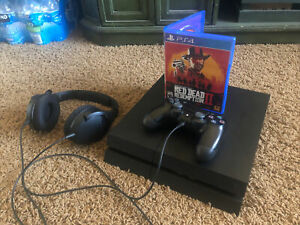 Sony PlayStation 4 ( PS4 ) with Read Dead Redemption 2 and Headset 500GB  🔥