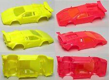 2 Vintage Tyco Lamborghini Ho Slot Car Body Unreleased Factory Neon Test Shots!