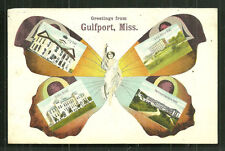 Gulfport Woman Butterfly Hotel MS Mississippi ca 1906